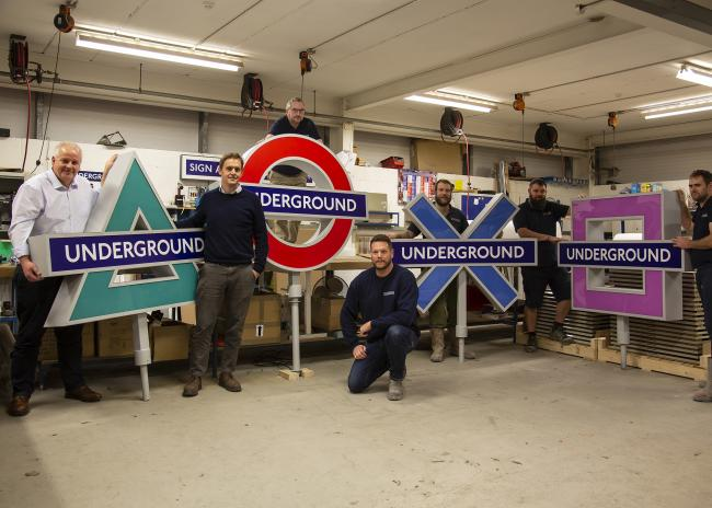 Isle of Wight Firm Creates New Tube Station Signs For PS 5 Launch