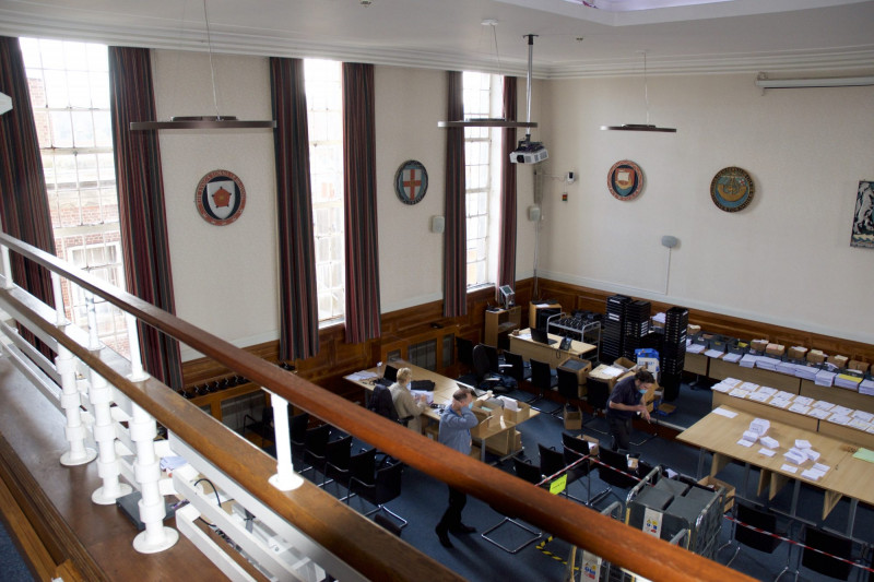 Wood Panelled Courtroom